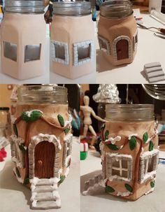 Pâte polymère Maisonnette Noël Polymer clay christmas