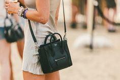 The Last Festival Looks of the Season: 60 Full Moon Style Snaps : Style snaps from the Full Moon Festival. Celine Bag Mini, Celine Bag Luggage, Celine Micro Luggage, Celine Handbags, Mini Bag, Fashion Handbags, Fashion Bags, Beautiful Handbags, Style Snaps