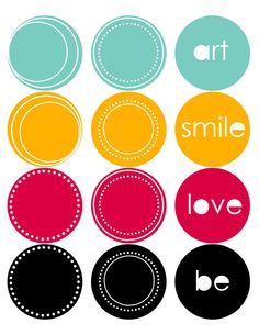 free printable stickers and labels