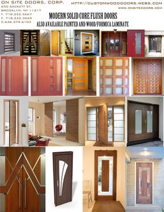DecoLux Doors & Architectural Wood Products - MODERN FLUSH DOORS - Designers, Manufacturers, Importers, Wholesalers and distributors of Custom Architectural wood doors In New York Tristate area Wooden Door Design, Wooden Doors, Grill Door Design, Flush Doors, Modern Front Door, Exterior Remodel, Modern House Design, Decoration, Building A House