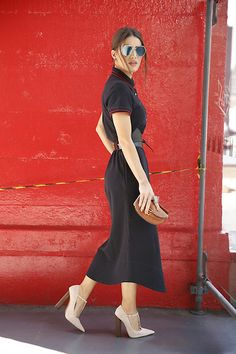 Street Style Mood: look da Camila Coelho all black e cabelo preso