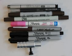 Just a small portion of the markers out there that will fit in the adjustable marker holder for the Cameo!