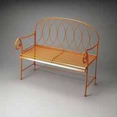 Metalworks Bench in Orange | Nebraska Furniture Mart