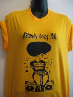 Gold  Naturally  Being Me /Afro love Natural hair by KedulKreation, $18.00