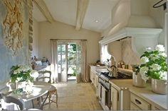 Wonderful Kitchen Nooks and Seating Areas... — Providence Design Kitchen Nook, Kitchen Decor, Long Kitchen, Kitchen Ideas, Kitchen Floors, Nice Kitchen, Kitchen Tile, Kitchen Vent, Neutral Kitchen