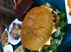 초대형 햄버거..프랜차이즈박람회에서