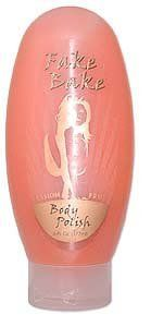 Fake Bake Body Polish by Fake Bake. $7.99. Prepare your skin for the ultimate self-tanning experience.. To prepare your skin for the ultimate self-tanning experience, always begin with Fake Bake's Body Polish.This soap-free Body Polish ingredients begin with Aloe and include eleven other botanicals. This helps restore your skin's moisture balance while natural exfoliators gently slough away dead skin cells to achieve the softest, smoothest skin possible before tanning.It is impor...