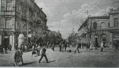 Более поздняя фотография этого перекрестка.Мы видим в левом обрезе надстроенный до четырехэтажного дом№52, Мясникова.