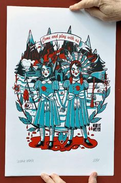 Limited, signed, numbered silkscreen   #shining #twins #shiningtwins #serigraphie #artprint
