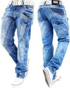 Señores Jeans Hose mens Pants straight fit cargo aerobic jogg ocio  marcas