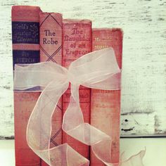 Pink Books ,Wedding Decor ,PINK ,Table Decoration, Pink Vintage Books for Wedding, Princess Room Decor or Baby Shower