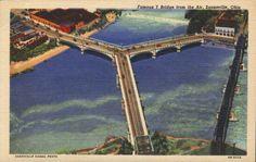 The great Y Bridge of Zanesville, Ohio