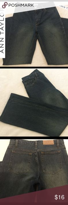 Jeans The Loft Ann Taylor women's size 6 exc. cond The jeans are in EXCELLENT condition free from any rips, tears, stains or discoloration and comes from a smoke free home. Measurements are approx. 29x29.  Buy with confidence I am a top rated seller, mentor, and fast shipper.  Don't forget to bundle and save.  Thank you. Ann Taylor Jeans