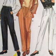 #Burda uncut pattern 5586 is for women's loose and modest pants or trousers. Ideal work wardrobe addition. For a range of sizes and heights.