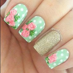 Ladies' nails have always been an important dimension of beauty and fashion. You can also have so many choice for your nail designs. Star nail art, Hello K Feather Nail Designs, Flower Nail Designs, White Nail Designs, Best Nail Art Designs, Nail Designs Spring, Toe Nail Designs, Nails Design, Green Nail Art, Rose Nail Art