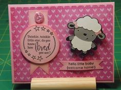 Baby Lamb Card by - Cards and Paper Crafts at Splitcoaststampers Baby Lamb, Baby Boy, Sheep Cards, Baby Girl Cards, Paper Crafts, Diy Crafts, Little Star, Pansies, Little Babies