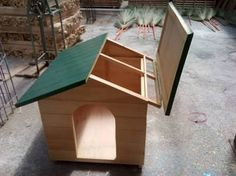 Resultado de imagen para casas de madera para perros