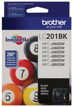 Brother LC201BK Standard Yield Black Ink Cartridge