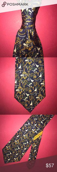 Vintage Authentic Salvatore Ferragamo silk tie GUC Vintage Authentic Salvatore Ferragamo silk tie GUC Salvatore Ferragamo Accessories Ties