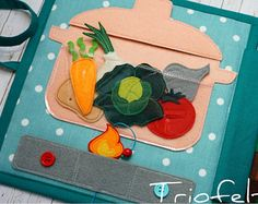Felt play set felt garden felt veggies felt vegetables