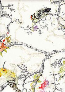 Stunning Botanical Multi Coloured Bird Tree Wallpaper 97891