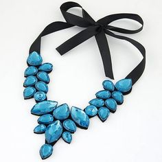 Women Black Lace Flower Choker Necklace Jewelry Beauty Ribbon clavicle chain BU