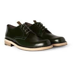 Acne Bleeker Contrast-Sole Leather Derby Shoes   MR PORTER