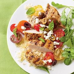 Chicken Breasts with Tomatoes and Olives Recipes | CookingLight.com