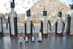 * Pinquins van plastic flessen!!
