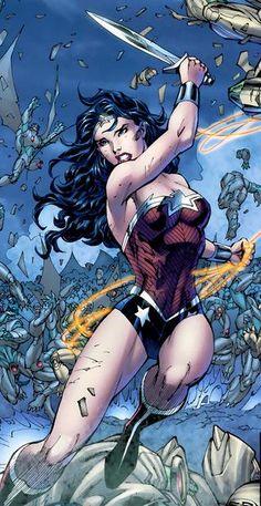 New look for Wonder Woman.  Art by Jim Lee.