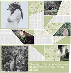 """""""Through the woods we ran, deep into the mountain sound."""" by leashiekate ❤ liked on Polyvore"""