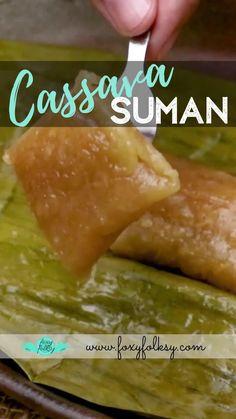 Suman Cassava Recipe, Cassava Cake, Pinoy Dessert, Filipino Desserts, Asian Desserts, Thai Dessert, Easy Tart Recipes, Snack Recipes, Deserts