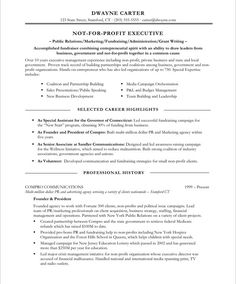 Non Profit Marketer Page1. Free Resume SamplesSample ...