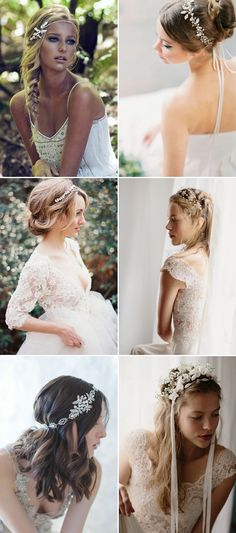 26 Glamorous Bridal Hairstyles with Exquisite Hair Adornments!