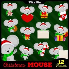 In the spirit of the season, please enjoy this free cartoon mouse clipart set! Free Download!