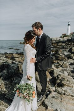 Talk about a Maine wedding done right! Portland Maine Wedding Press Hotel Summer Downtown Ceremonypress-hotel-wedding-photography-maine-lighthouse