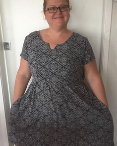 Love Michelle's #Auberley dress - great lattice print! @sewing_is_my_thing  #blankslatepatterns