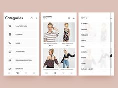 pull&bear redesign / categories