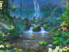 Put a spell on your computer screen with the new babbling screensaver! Enchanting waters, picturesque mountains and rocks, sounds of music and birds singing: Fascinating Waterfalls will create a mystically romantic atmosphere right on your desktop.