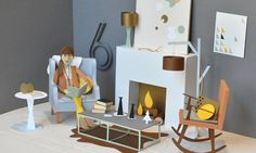 SF based Chloe Fleury, French illustrator who transforms paper into three-dimensional objects.