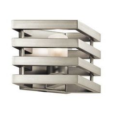 Kichler Lighting Realta 10-In W 1-Light Brushed Nickel Pocket Wall Sco