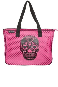 Sugar Skull Tote Bag Pink