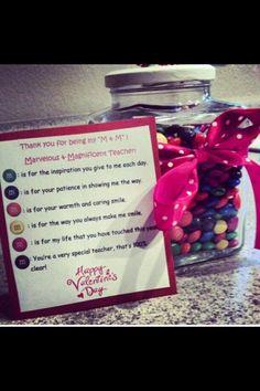 Valentine's teacher gift Idea
