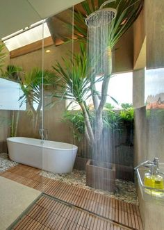 Outdoor Bathrooms 476959416790020628 - 50 Best Ideas For Outdoor Bathroom Design bathroom Source by razborkadp Outdoor Baths, Outdoor Bathrooms, Dream Bathrooms, Beautiful Bathrooms, Outdoor Showers, Master Bathrooms, Tropical Bathroom, Bathroom Spa, Bathroom Closet