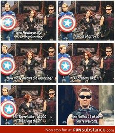 This is never not funny hehe - Jeremy Renner - Hawkeye