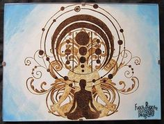 *True Being* Pyrography on Paper and Watercolors 2015