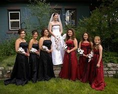 I like this. Put my bridesmaids in black and my jr bridesmaids in red!!