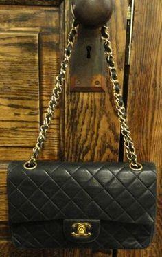 Chanel Black Quilted Designer Handbag #chanel #designer #couture #designerhandbags