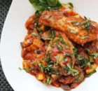 Tender chicken legs are simmered in a fresh summer vegetable ratatouille for this quick one-pot meal. Easy Ratatouille with Chicken Paleo Recipes, Dinner Recipes, Cooking Recipes, Entree Recipes, Dinner Ideas, Protein Recipes, Top Recipes, Easy Cooking, Yummy Recipes
