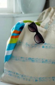 Headed to the beach this summer? This quick and easy tote tutorial will have you ready in no time.